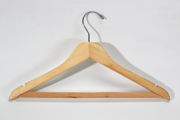 Clothes hanger with anti-slip bar