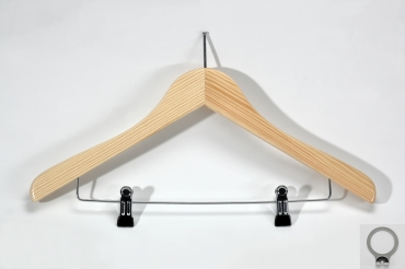 Clothes hanger with anti-theft PIN and clips
