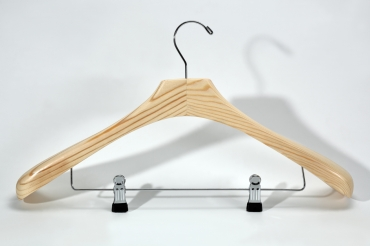 Coat hanger with clips