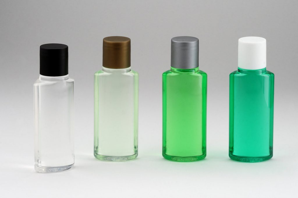 hotel bottles, vials, Hotel cosmetics