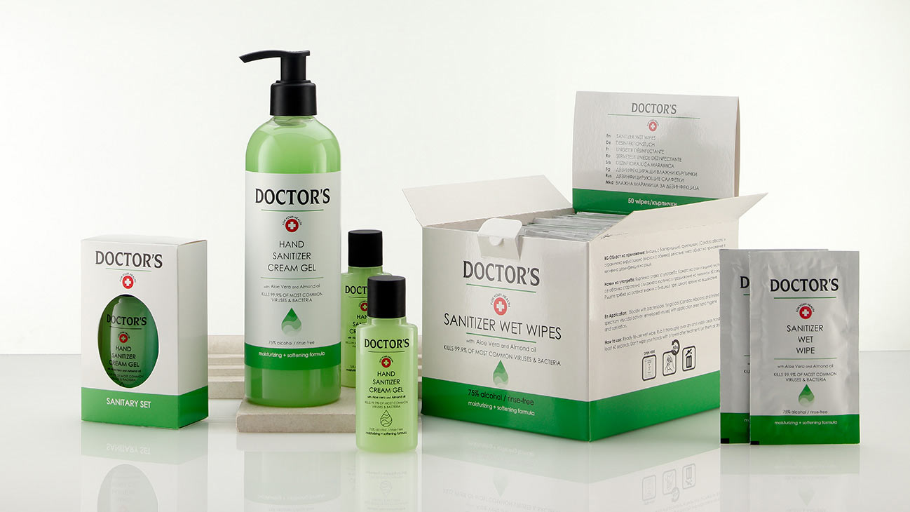 new range of hygiene products - disinfectants