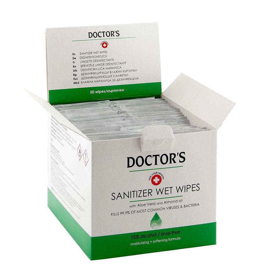 дезинфекциращи кърпички за ръце - за борба с вредните бактерии